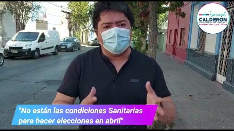 """""""No están las condiciones sanitarias para hacer las elecciones en Abril"""""""