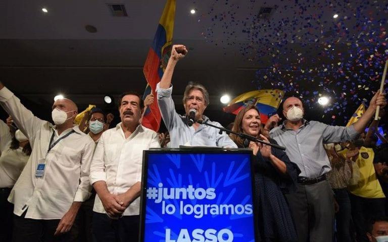 El centroderechista Guillermo Lasso se alzó con el triunfo en las elecciones presidenciales de Ecuador