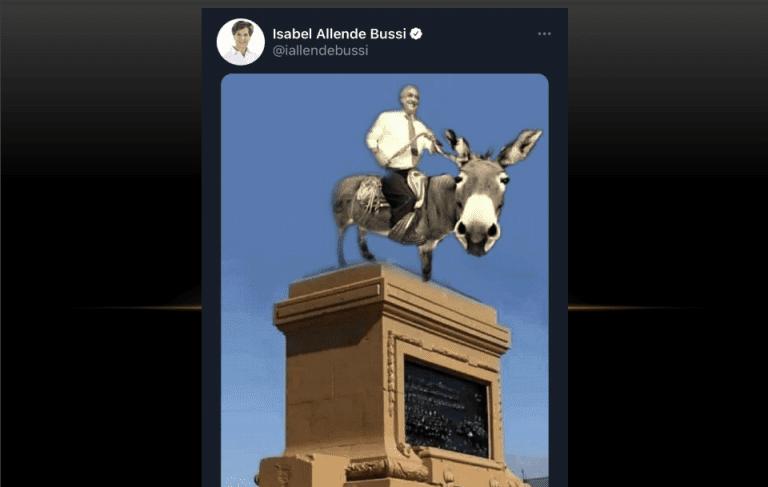 """La dura batalla tuitera de senadora Allende con diputado Torrealba por un """"minuto de humor"""""""