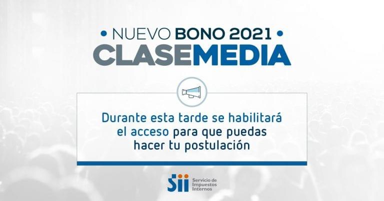 Ahora sí: SII comunica que en la tarde se habilitará sitio para postular al Bono Clase Media