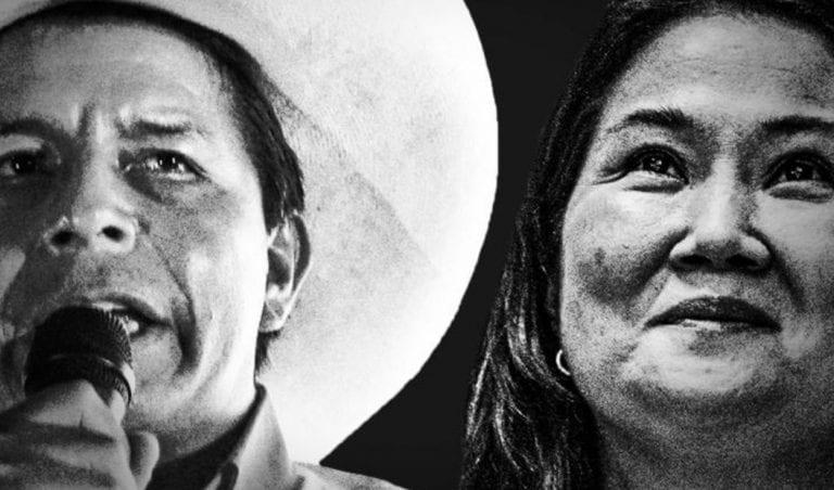 Pedro Castillo se acerca al triunfo con una ventaja de 50,24% de los votos sobre el 49,76% de Keiko Fujimori