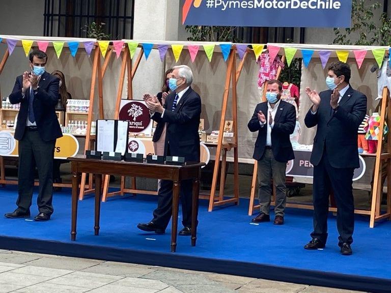 Piñera promulgó dos leyes de beneficio pro MiPymes aprobadas de urgencia en el Congreso