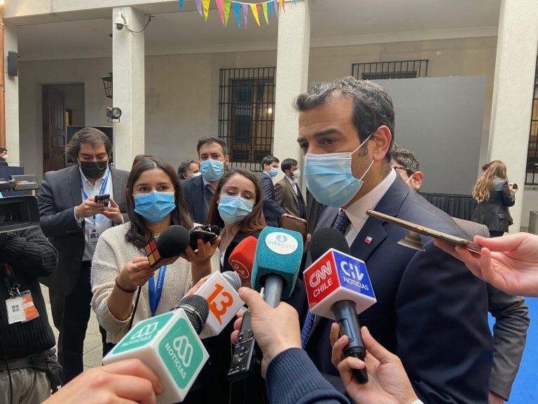"""Ministro Delgado pidió discutir """"con altura de miras"""" continuidad del estado de excepción más allá del 30 de junio"""