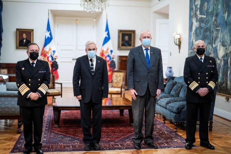 Presidente Piñera nombró al vicealmirante Juan Andrés de la Maza como nuevo Comandante en Jefe de la Armada