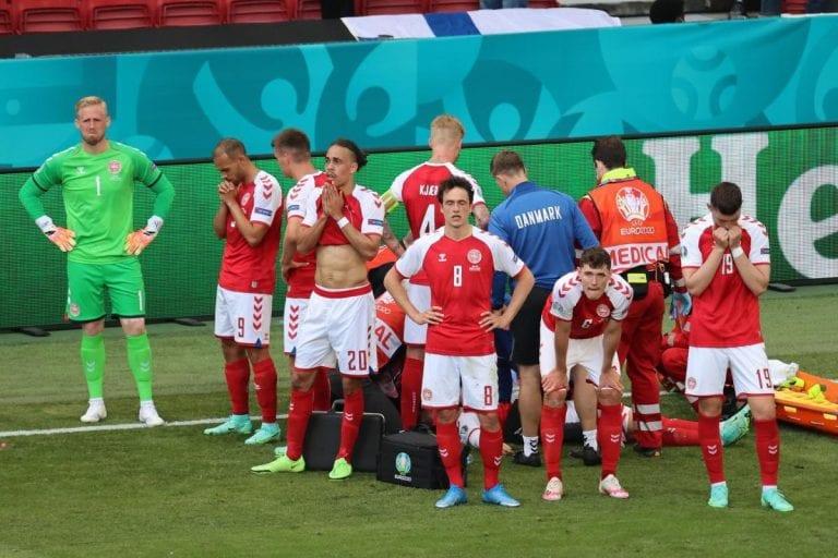 ¡¡Momento de terror en la Eurocopa!! Christian Eriksen se desvanece en medio de partido