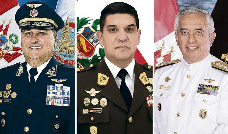Los aspirantes a la jefatura del Comando Conjunto de las Fuerzas Armadas de Perú tras la llegada de Castillo a la Presidencia