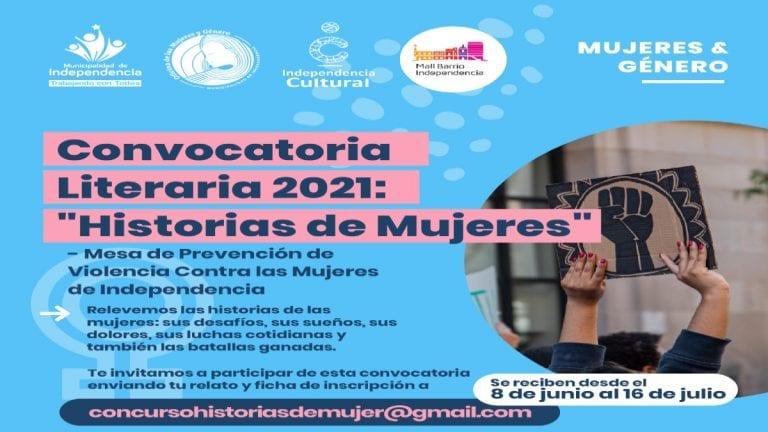 Independencia lanza convocatoria abierta de concurso literario sobre historias de mujeres