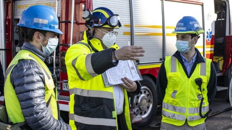 TPS y Bomberos realizaron ejercicio de respuesta a eventual derrame de sustancia peligrosa