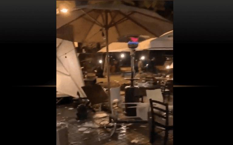 Manifestantes destruyen locales del barrio Lastarria