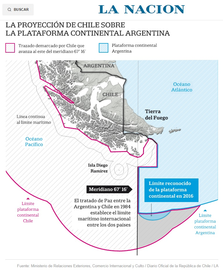 """Prensa argentina: """"Tras la denuncia por ampliación de la plataforma continental, Sebastián Piñera le respondió al Gobierno: """"Lo que Chile está haciendo es ejercer su derecho"""""""