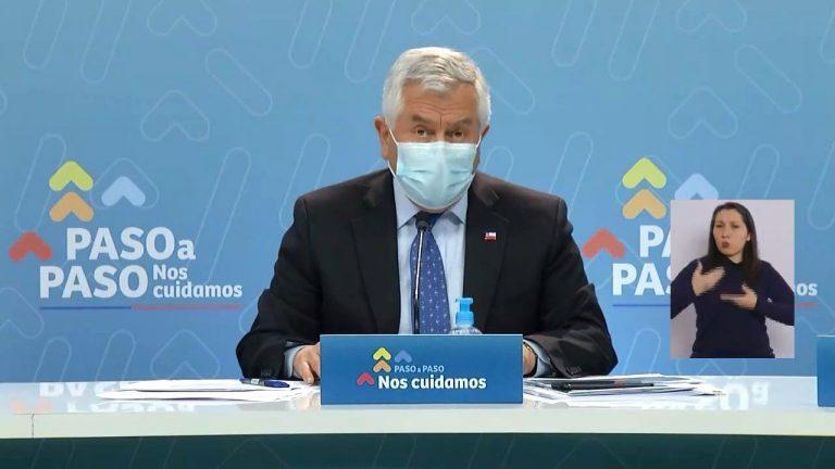 """Ministro Paris hizo un llamado """"a la preocupación""""  por aumento de casos en Aysén y Magallanes"""