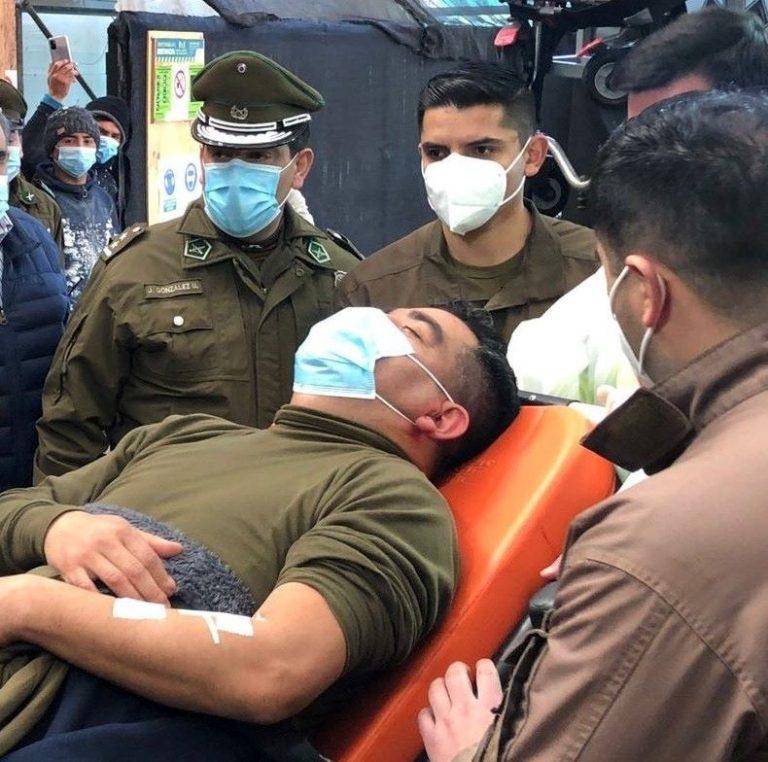Un carabinero y, aparentemente, un comunero, resultaron heridos en un operativo en La Araucanía