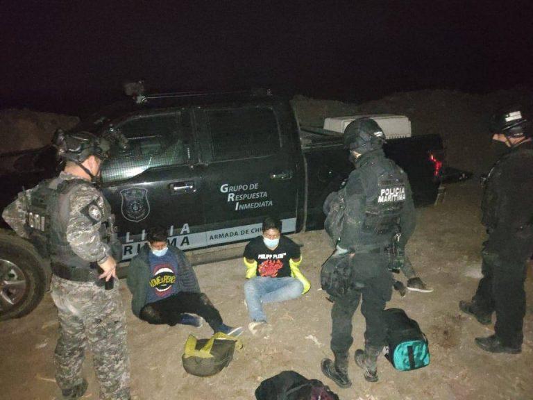 Policía marítima logra detención de cuatro bolivianos con más de 4 kilos de cocaína