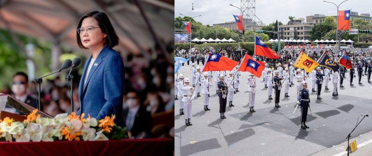 """Día Nacional de Taiwán, Presidenta Tsai Ing-wen: """"No nos inclinaremos ante China"""""""